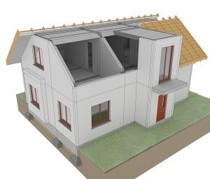 Strop nad poddaszem i dach